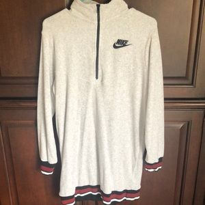 Women's NIKE Gray French Terry Dress Size Small